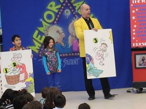 Memory Madness assembly show memory skills